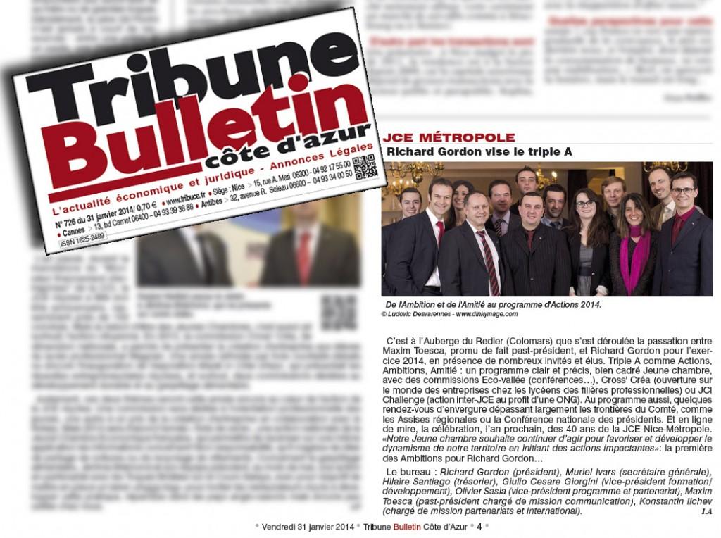Passation 2014 Jeune Chambre Economique Métropole Niçoise