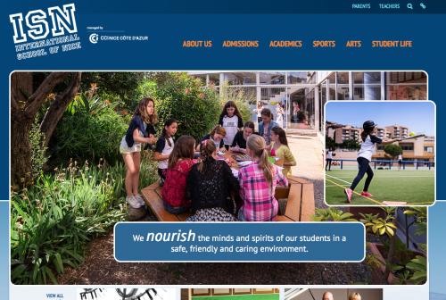 La page d'accueil du nouveau site internet de l'ISN